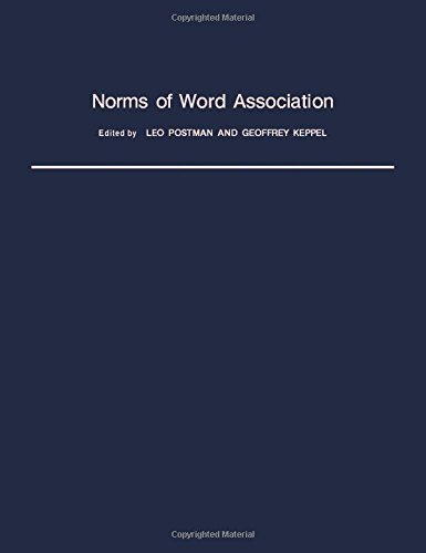 9780125630504: Norms of Word Association