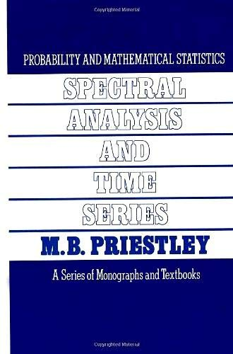 9780125649223: Spectral Analysis and Time Series, Two-Volume Set,1-2 (Probability and Mathematical Statistics)