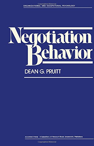 9780125662505: Negotiation Behaviour (Organizational and Occupational Psychology)