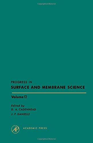 Progress In Surface and Membrane Sci Volume: Cadenhead, D A