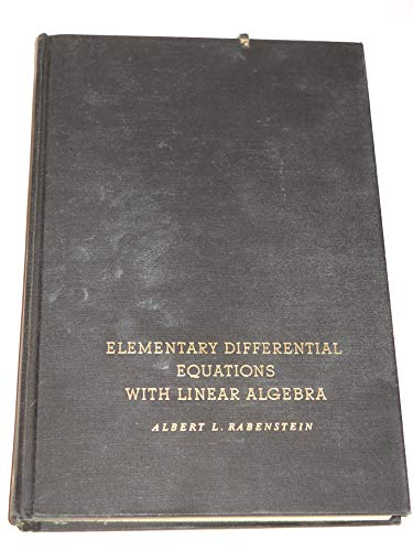 9780125739405: Elementary Differential Equations with Linear Algebra