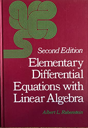 9780125739436: Elementary Differential Equations with Linear Algebra
