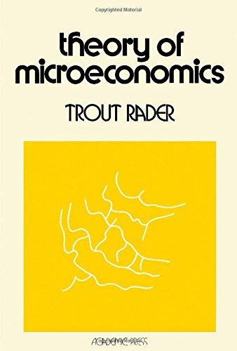 9780125750509: Theory of Microeconomics