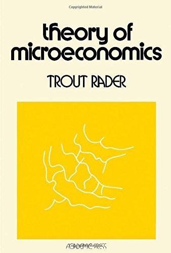 9780125750509: Theory of Microeconomics