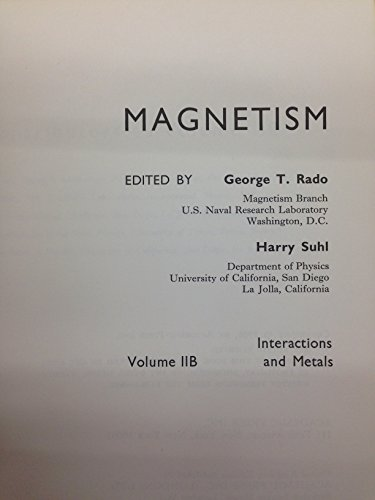 Magnetism: A Treatise on Modern Theory and: George Tibor Rado,