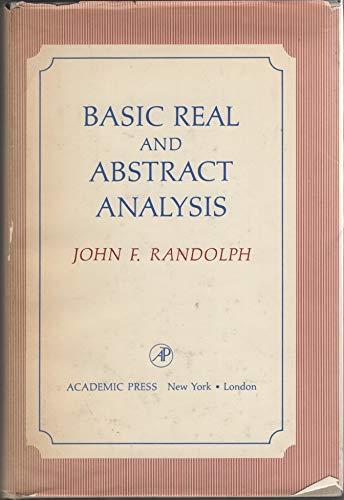 9780125798501: Basic Real and Abstract Analysis