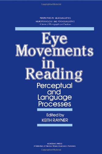 9780125836807: Eye Movements in Reading: Perceptual and Language Processes (Perspectives in neurolinguistics, neuropsychology, and psycholinguistics)