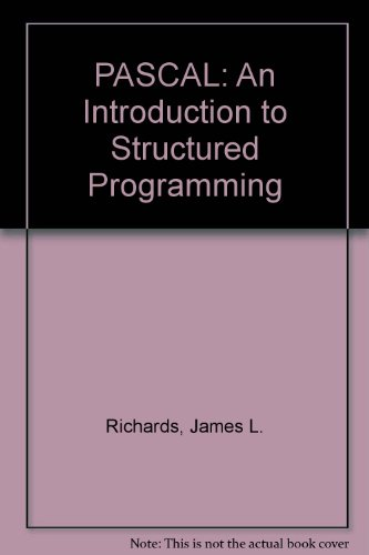 9780125875202: PASCAL: An Introduction to Structured Programming
