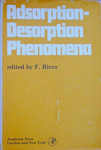 9780125877503: Adsorption-desorption Phenomena: Symposium Proceedings