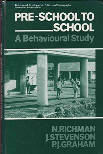 9780125879408: Pre-School to School: Behavioral Study (Behavioural development)