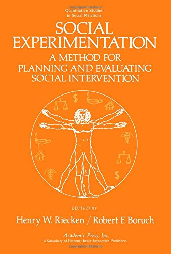 9780125881500: Social Experimentation: A Method for Planning and Evaluating Social Intervention (Quantitative studies in social relations)