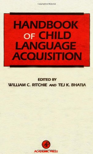 9780125890410: Handbook of Child Language Acquisition