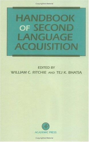 9780125890427: Handbook of Second Language Acquisition