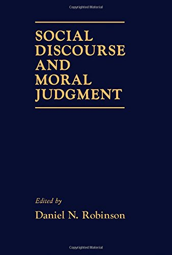 9780125901550: Social Discourse and Moral Judgement