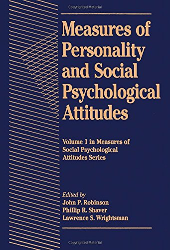 9780125902410: Measures of Personality of Social Psychology Attitudes (Measures of Social Psychological Attitudes)