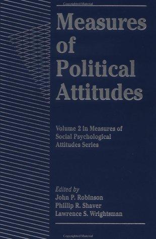 9780125902427: Measures of Political Attitudes (Measures of Social Psychological Attitudes)