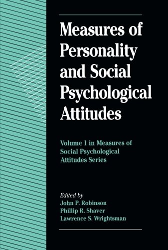 9780125902441: Measures of Personality and Social Psychological Attitudes, Volume 1 (Measures of Social Psychological Attitudes)