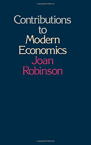 9780125905503: Contributions to Modern Economics