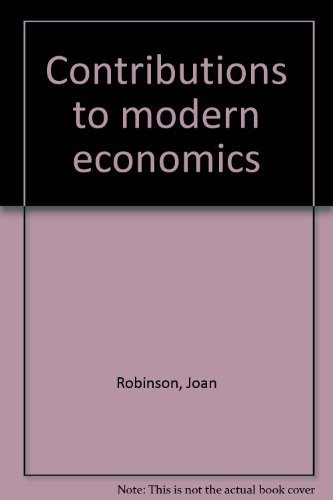 9780125905527: Title: Contributions to modern economics