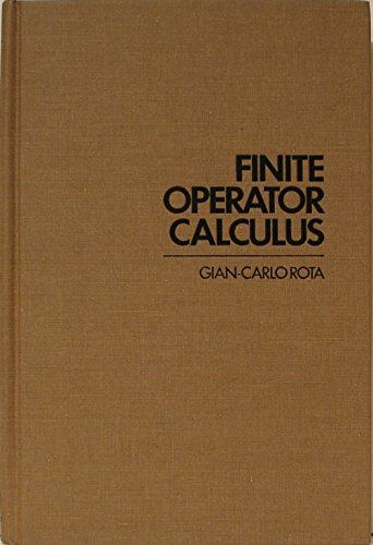 9780125966504: Finite Operator Calculus (Academic Press rapid manuscript reproduction)