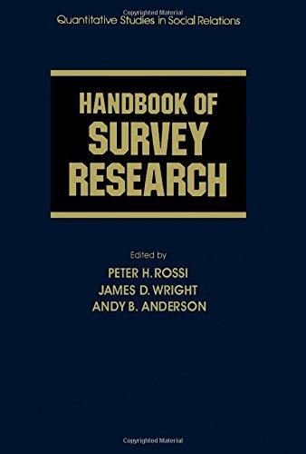 9780125982269: Handbook of Survey Research (Quantitative studies in social relations)