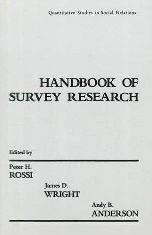 9780125982276: Handbook of Survey Research: Quantitative Studies in Social Relations