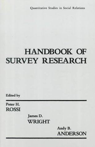 9780125982276: Handbook of Survey Research: Quantitative Studies in Social Relations