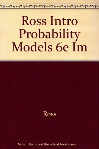 9780125984713: Introduction to Probability Models, Instructor's Manual, Sixth Edition