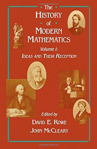 9780125996617: The History of Modern Mathematics: v. 1