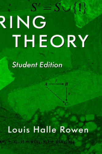 9780125998406: Ring Theory, 83: Student Edition