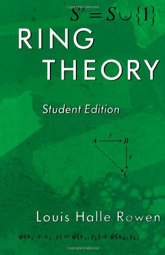 9780125998406: Ring Theory, Student Edition