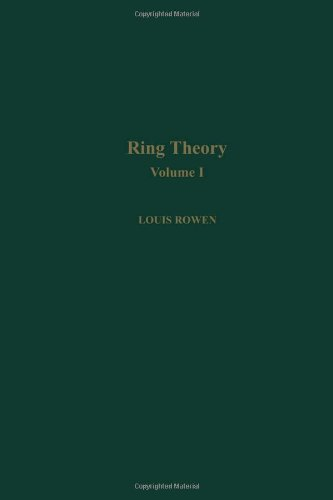 9780125998413: Rowen Ring Theory V1: 001 (Pure and Applied Mathematics (Academic Pr))