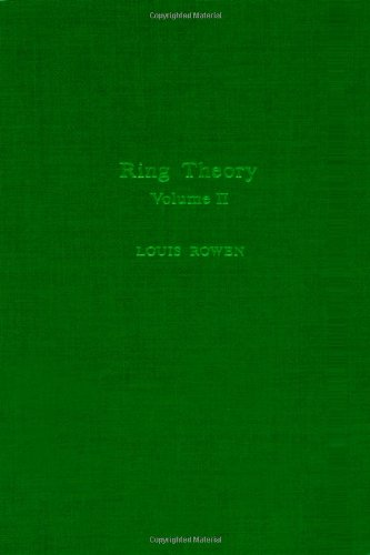 9780125998420: Ring theory V2, Volume 127-II (Pure and Applied Mathematics)