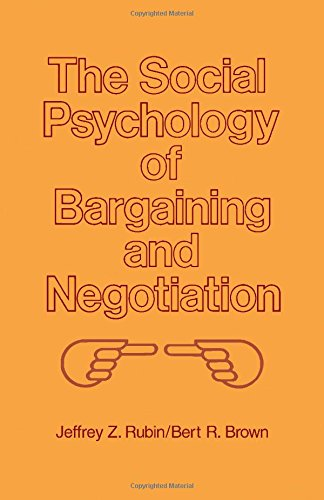 9780126012507: The Social Psychology of Bargaining and Negotiation