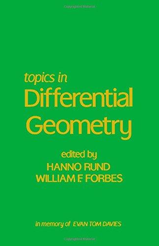 9780126028508: Topics in Differential Geometry: In Memory of Evan Tom Davies