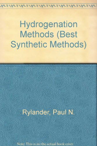 9780126053654: Hydrogenation Methods (Best Synthetic Methods)