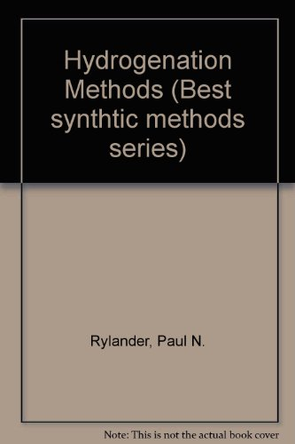 9780126053661: Hydrogenation Methods (Best Synthetic Methods)