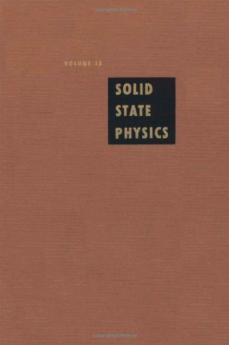 9780126077131: Solid State Physics: Advances in Research and Applications, Vol. 13