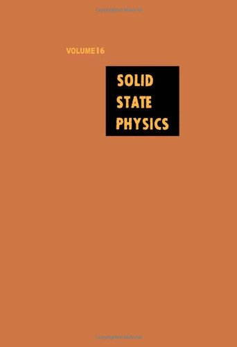 9780126077162: Solid State Physics: Advances in Research and Applications, Vol. 16