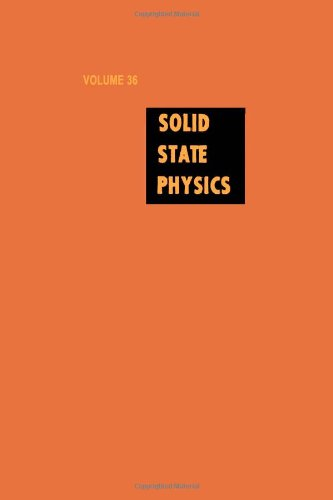 9780126077360: Solid State Physics: Advances in Research and Applications, Vol. 36