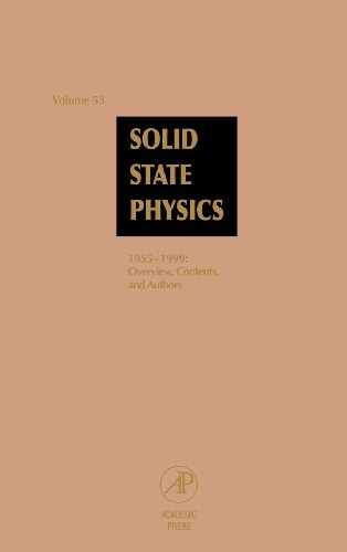 Solid State Physics: Advances in Research and: Series Editor-Henry Ehrenreich;