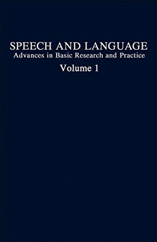 9780126086010: Speech and Language: Advances in Basic Research and Practice, Vol. 1