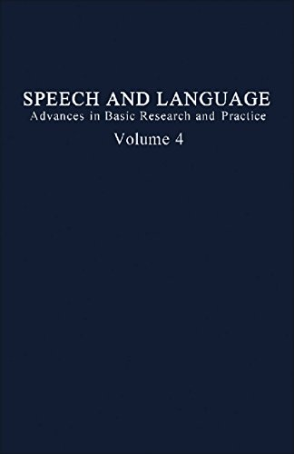 9780126086041: Speech and Language: Advances in Basic Research and Practice, Vol. 4