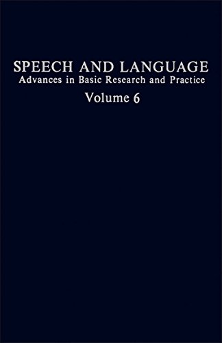 9780126086065: Speech and Language: Advances in Basic Research and Practice