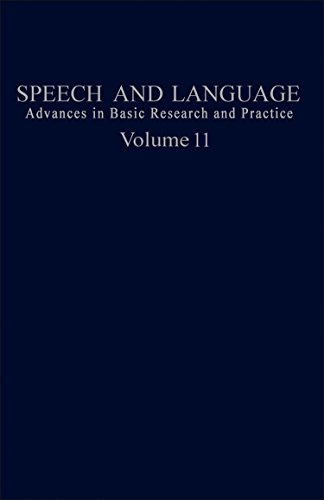 9780126086119: Speech and Language: Advances in Basic Research and Practice