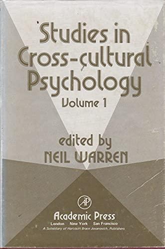 9780126092011: Studies in Cross-cultural Psychology: v. 1