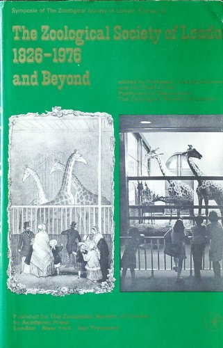 9780126133400: Zoological Society of London, 1826-1976 and Beyond (Zoological Society Symposium)