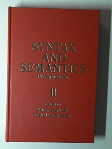 9780126135114: Syntax and Semantics: Presupposition