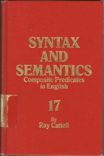 9780126135176: Composite Predicates in English (Syntax and Semantics, Vol. 17)