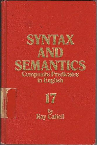 9780126135176: Composite Predicates in English (Syntax and Semantics, Vol. 17)